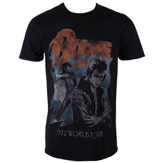 tee-shirt métal pour hommes David Bowie - 1972 World Tour - ROCK OFF, ROCK OFF, David Bowie