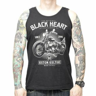 Débardeur pour hommes BLACK HEART - MOTOR CYCLE - NOIR, BLACK HEART