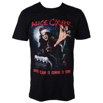 tee-shirt métal pour hommes Alice Cooper - Santa Claws - ROCK OFF, ROCK OFF, Alice Cooper