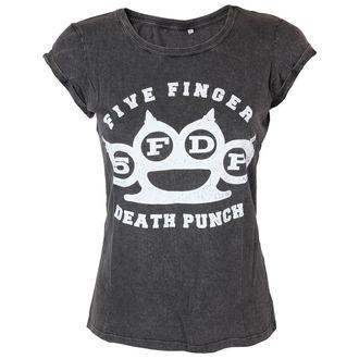 tee-shirt métal pour femmes Five Finger Death Punch - Knuckleduster - ROCK OFF, ROCK OFF, Five Finger Death Punch