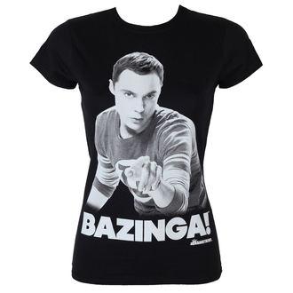 t-shirt de film pour femmes Teorie velkého třesku - Sheldon Says Bazinga - HYBRIS, HYBRIS
