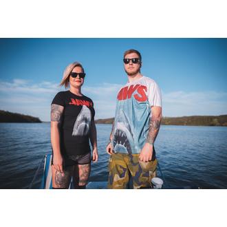 tee-shirt pour femmes Dents de la mer - Affiche - Noire - HYBRIS, HYBRIS, Les dents de la mer
