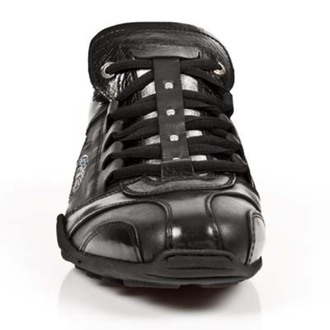 bottes en cuir pour femmes - ITALI NEGRO, BOX PLANE - NEW ROCK, NEW ROCK