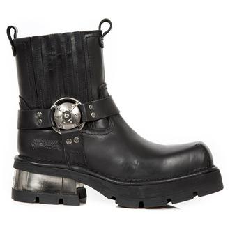 bottes en cuir pour femmes - PLANING NEGRO NEW M3 ACERO - NEW ROCK, NEW ROCK