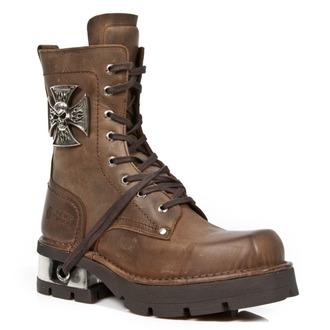 bottes en cuir pour femmes - VENTURE AVIADOR MARRON M3 ACERO ORIF - NEW ROCK, NEW ROCK