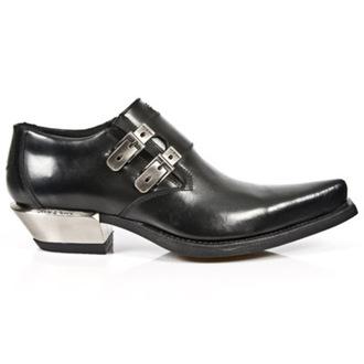 bottes en cuir pour femmes - WEST NEGRO-ACERO TACON - NEW ROCK, NEW ROCK