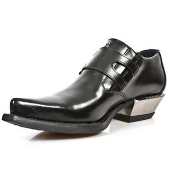 bottes en cuir pour femmes - WEST NEGRO-ACERO TACON - NEW ROCK