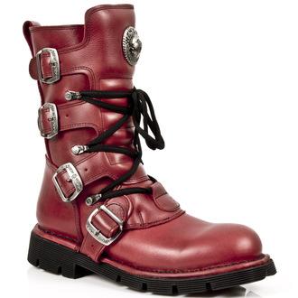 bottes en cuir pour femmes - NATURE ROJO, PLANING - NEW ROCK, NEW ROCK