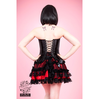 corset pour femmes HEARTS AND ROSES - Noire Satin, HEARTS AND ROSES