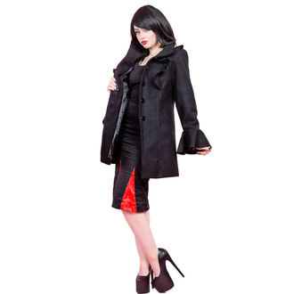 manteau pour femmes printemps / automne HEARTS AND ROSES - jabot Sleeve Laine, HEARTS AND ROSES