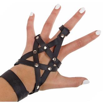 bracelet AMENOMEN - peau - Pentagram - Noire, AMENOMEN