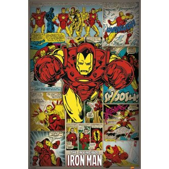 affiche Marvel Comics - Iron Man Retro - PYRAMID POSTERS, PYRAMID POSTERS