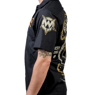 chemise pour hommes WORNSTAR - Rock N Roll Forever - Noire - WSS-RNR4VR