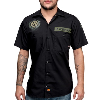 chemise pour hommes WORNSTAR - SGT - Noire, WORNSTAR