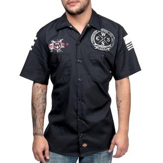 chemise pour hommes WORNSTAR - Death Mechanic - Noire - WSS-DMEC