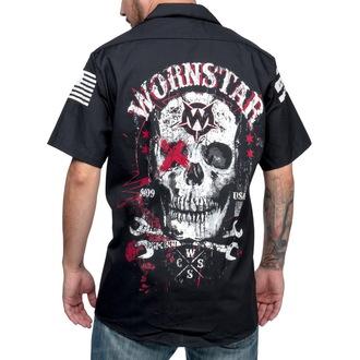 chemise pour hommes WORNSTAR - Death Mechanic - Noire, WORNSTAR