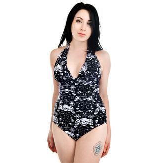 maillot de bain pour femmes TOO FAST - BAROQUE SKULLS - Noire