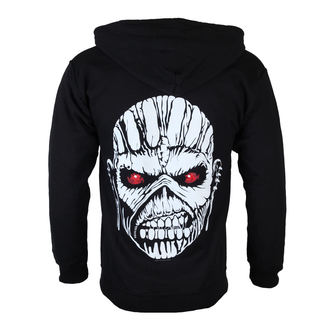 sweat-shirt avec capuche pour hommes Iron Maiden - Eddie Axe White - ROCK OFF - IMHOOD05MB