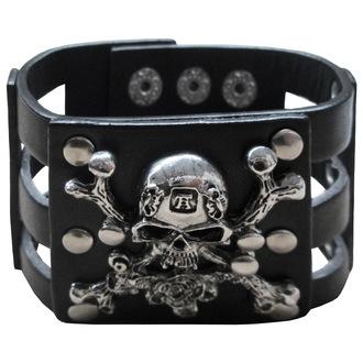 bracelet DEAD THREADS - Metal Skull And Roses, DEAD THREADS