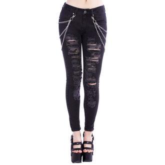 pantalon pour femmes DISTURBIA - Noire Metal, DISTURBIA