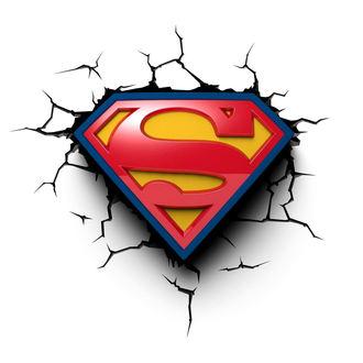 décoration Superman - DC Comics 3D LED Léger, NNM, Superman