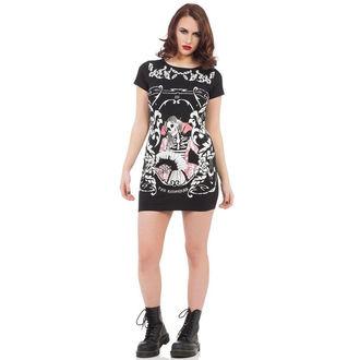 robe pour femmes VOODOO VIXEN - Noir Skeleton, JAWBREAKER