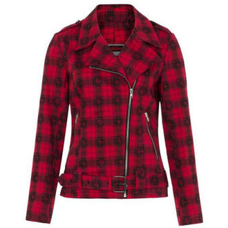 veste printemps / automne pour femmes - Blk/Red Plaid Skulls - JAWBREAKER, JAWBREAKER