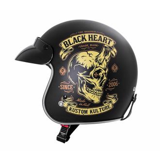 Casque BLACK HEART - DEVIL SKULL - NOIR, BLACK HEART