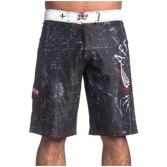 maillots de bain hommes (short) AFFLICTION - Wild Wing - BK, AFFLICTION