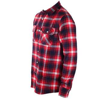 chemise hommes INDEPENDENT - Faction Red Check, INDEPENDENT