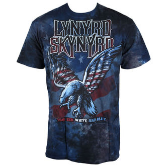 tee-shirt métal pour hommes Lynyrd Skynyrd - True Red, White & Blue Tie-Dye - LIQUID BLUE, LIQUID BLUE, Lynyrd Skynyrd
