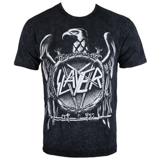 tee-shirt métal pour hommes Slayer - Hi Contrast Eagle Puff Print - ROCK OFF, ROCK OFF, Slayer