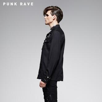 chemise hommes avec longue manche PUNK RAVE - Nostromo, PUNK RAVE