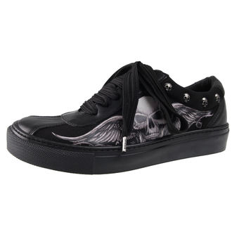 chaussures de tennis basses pour femmes - GHOST-WINGED SKULL - ALCHEMY GOTHIC - ST-S3-Z329.Z346