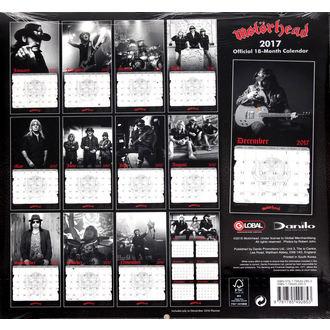 calendrier pour 2017 Motörhead, Motörhead