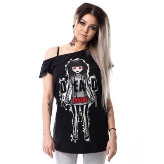 t-shirt pour femmes - DEAD INSIDE OFF SHOULDER T - CUPCAKE CULT, CUPCAKE CULT