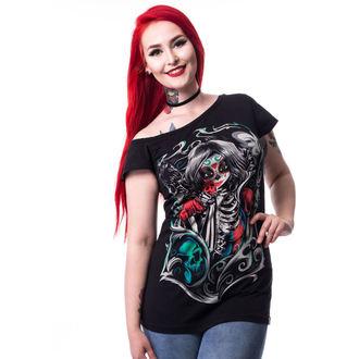 t-shirt pour femmes - MUERTE SNOW OFF SHOULDER T - CUPCAKE CULT, CUPCAKE CULT