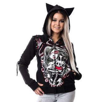 sweat-shirt avec capuche pour femmes - CAT MUERTE - VIXXSIN, VIXXSIN