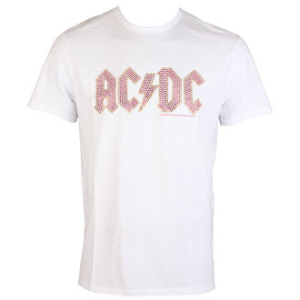 tee-shirt métal pour hommes AC-DC - CLASSIC LOGO WHITE RED - AMPLIFIED, AMPLIFIED, AC-DC
