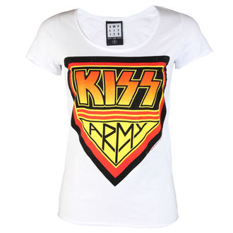 tee-shirt métal pour femmes Kiss - DISTRESSED ARMY WHITE - AMPLIFIED, AMPLIFIED, Kiss