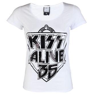 tee-shirt métal pour femmes Kiss - K 35 WHITE - AMPLIFIED, AMPLIFIED, Kiss