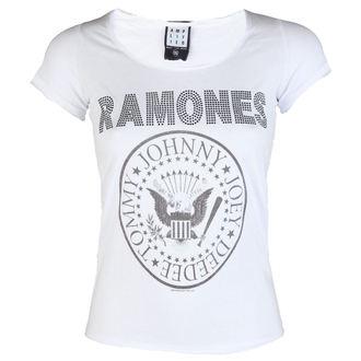 tee-shirt métal pour femmes Ramones - LOGO DIAMANTE - AMPLIFIED, AMPLIFIED, Ramones