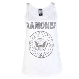 top femmes RAMONES - LOGO DIAMANTE - BLANC - AMPLIFIED, AMPLIFIED, Ramones