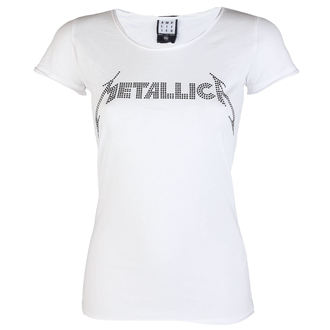tee-shirt métal pour femmes Metallica - CLASSIC LOGO WHITE - AMPLIFIED