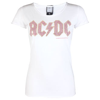 tee-shirt métal pour femmes AC-DC - LOGO WHITE RED - AMPLIFIED, AMPLIFIED, AC-DC