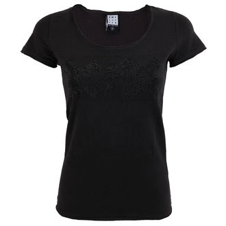 tee-shirt métal pour femmes AC-DC - LOGO CHARCOAL BLACK - AMPLIFIED, AMPLIFIED, AC-DC