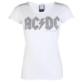 tee-shirt métal pour femmes AC-DC - LOGO WHITE BLACK - AMPLIFIED, AMPLIFIED, AC-DC