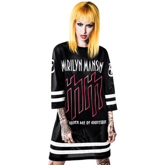t-shirt pour femmes Marilyn Manson - Use Your Fist Hockey Team - KILLSTAR, KILLSTAR, Marilyn Manson