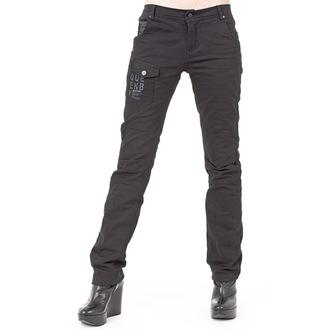 pantalon femmes (hiver) QUEEN OF DARKNESS - Black, QUEEN OF DARKNESS