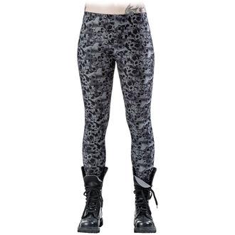 pantalon femmes (leggings) QUEEN OF DARKNESS - Skulls and Roses, QUEEN OF DARKNESS